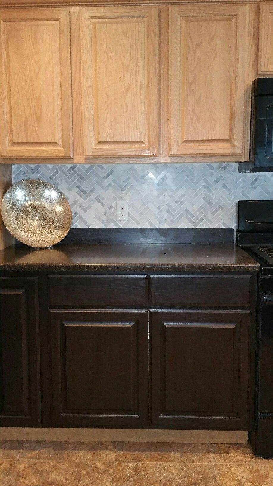 general finishes java gel stain on oak kitchen cabinets ...
