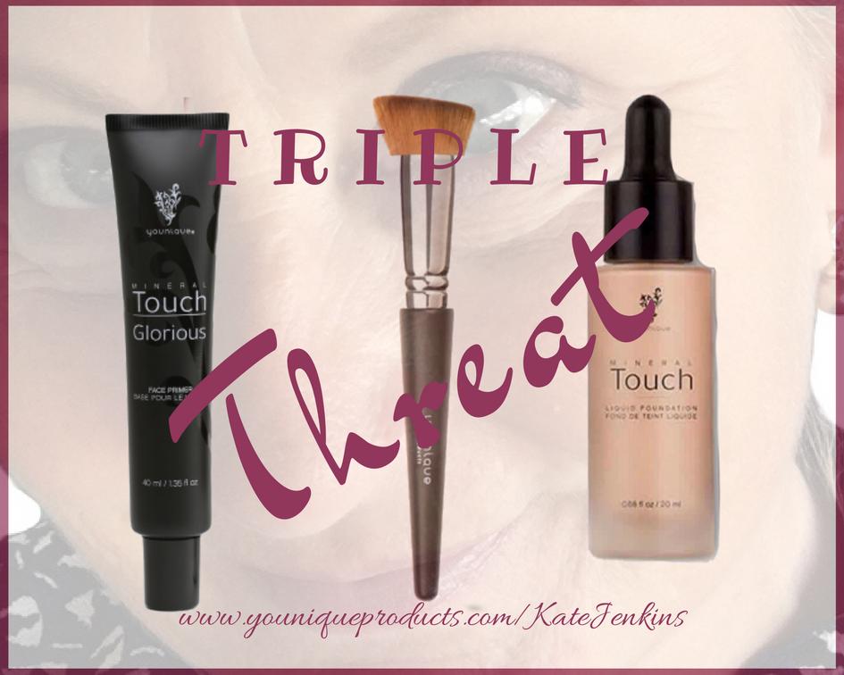 Touch Liquid Foundation, Liquid Foundation Brush, Glorious Face Primer