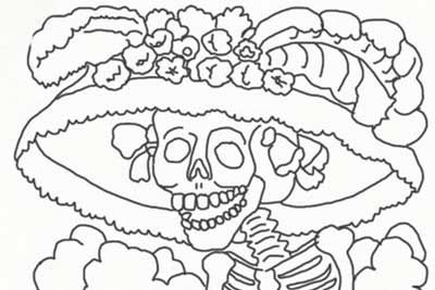 Day Of The Dead Coloring And Craft Activities Coloring Pages
