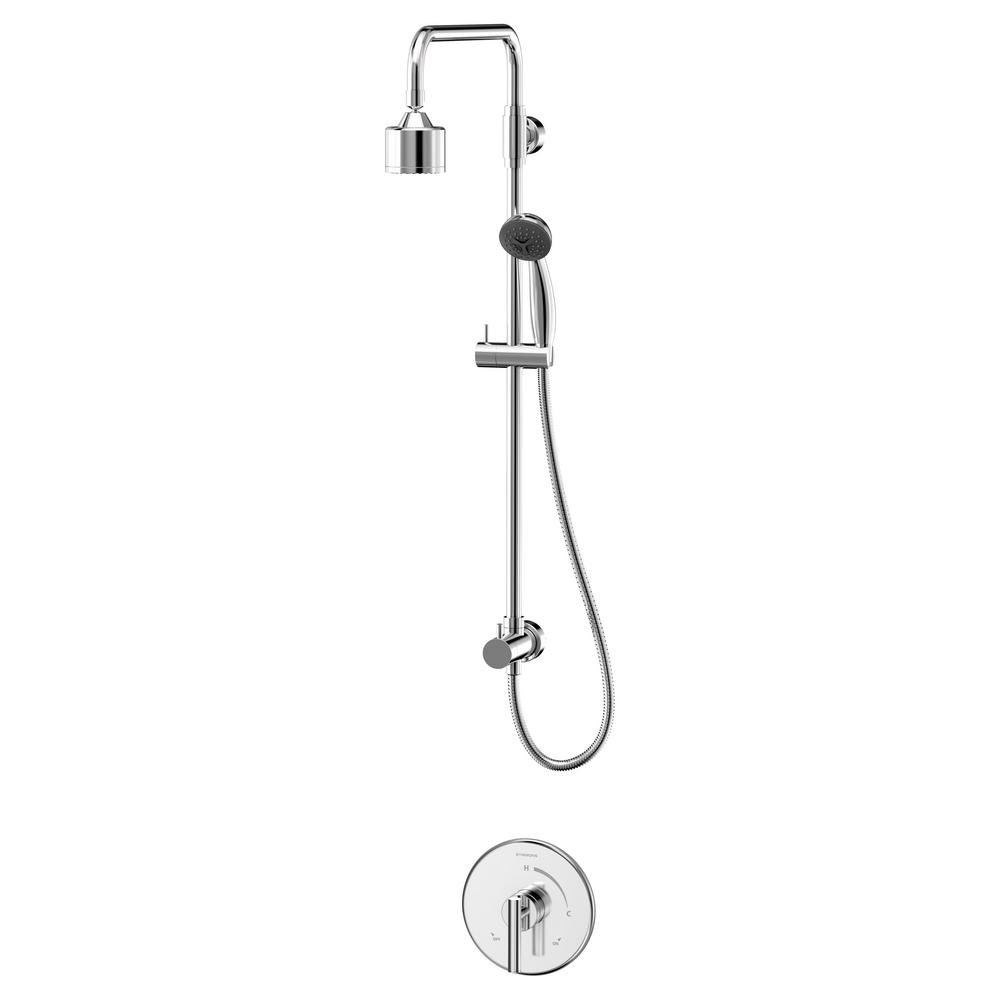 Dia Single Handle 1 Spray Shower Faucet With Hand Shower In Chrome