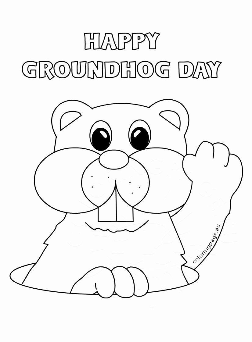 - Free Groundhog Day Coloring Sheets Awesome Coloring Groundhog