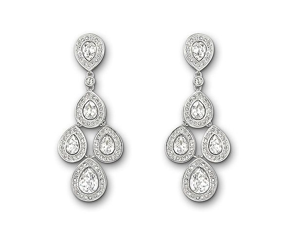 7a9dcfde9 #Swarovski Sensation Pierced Earrings featuring pear-shaped clear crystals  which dangle freely, creating a chandelier effect. Perfect if you'll have  your ...
