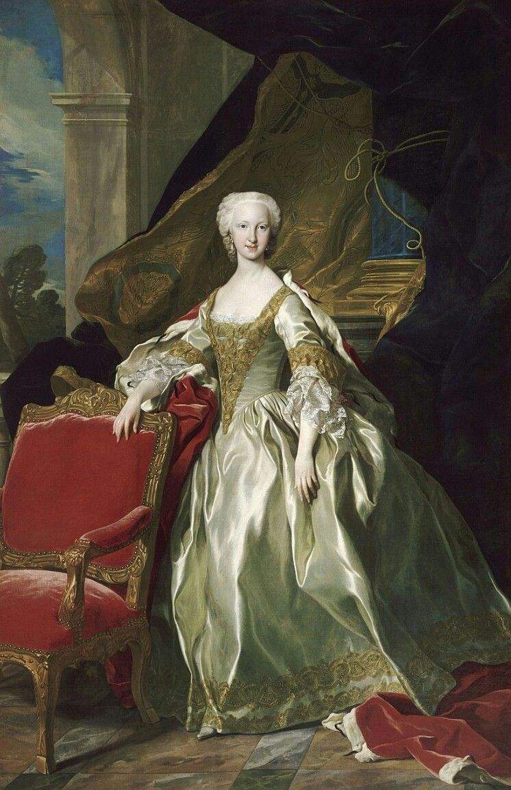 Infanta Maria Teresa Rafaela De Espana Portrait Art Rococo Art Antique Oil Painting