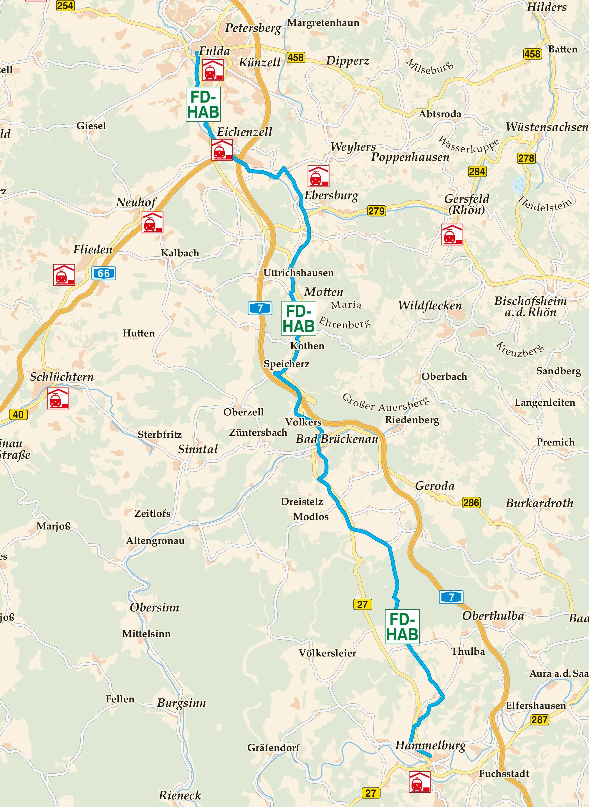 Fulda Hammelburg Radweg Karte Radweg Fulda Radtouren