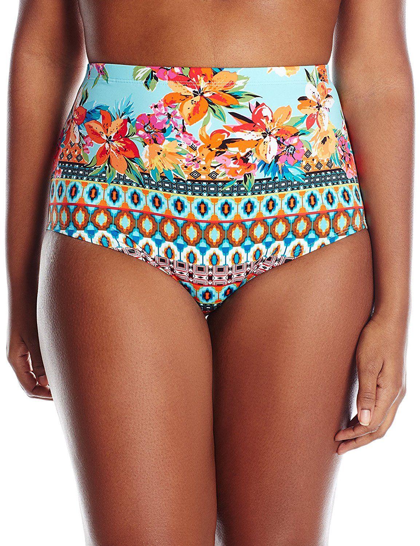 6f2b002f7e3e4 La Blanca Women s Plus-Size Mosaics High-Rise Bikini Bottom with Tummy Toner    Insider s special review you can t miss. Read more   Plus size bikini