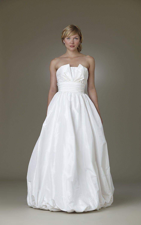 Simple strapless sleeveless taffeta ball gown floorlength formal