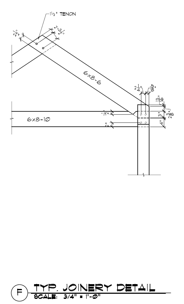 Common Rafter To Tie Beam To Plate Detail Timber Frame Joinery Timber Frame Building Timber Frame Joints
