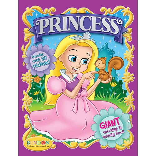 princess coloring activity book w stickers bendon publishing intern toys r