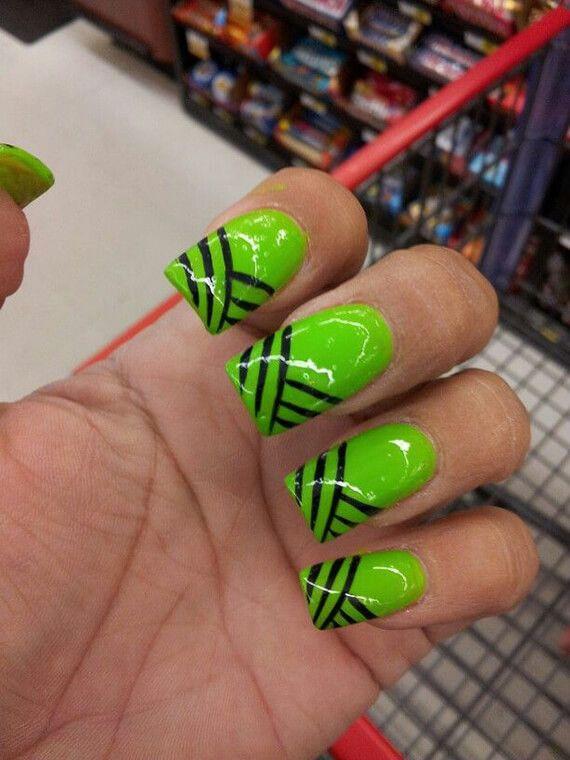 decoracion de unas verdes (11)   Arte uñas   Pinterest   Verde, Uña ...