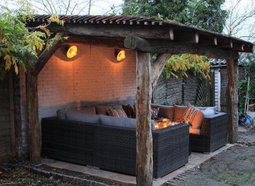 Magnificent Overkapping Balken Backyard Ideas Garden Diy Bbq Theyellowbook Wood Chair Design Ideas Theyellowbookinfo