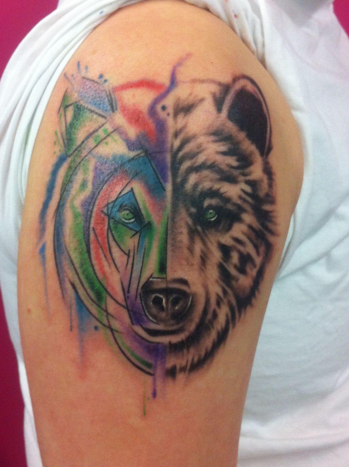 Amazing water colour realism tattoo realism tattoo
