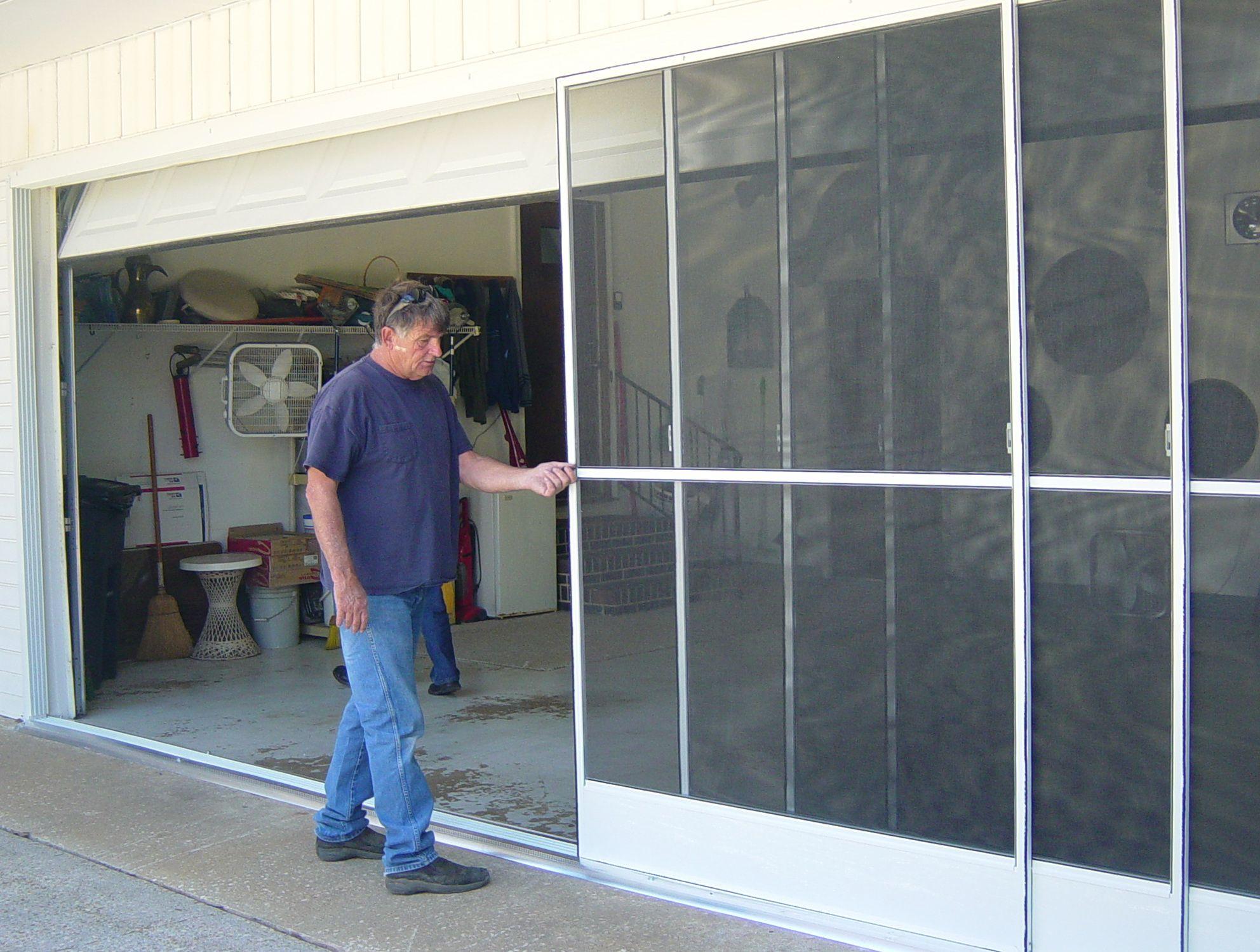 Sliding Garage Door Screen Kits Sliding Garage Doors Garage