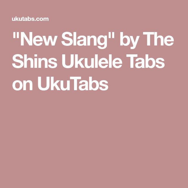 New Slang\