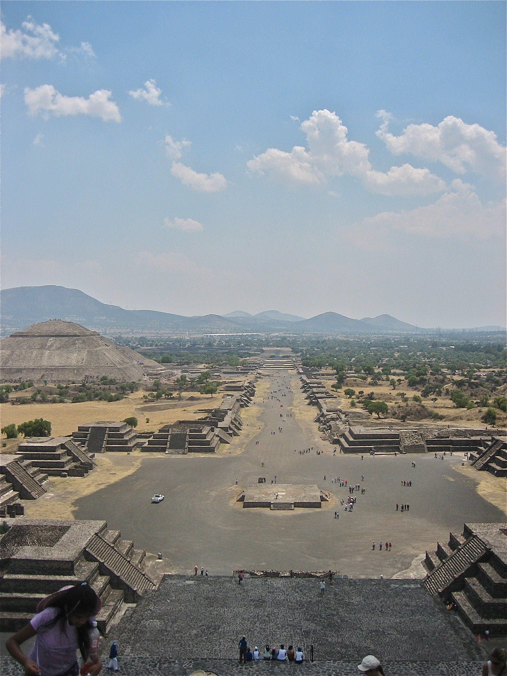 Avenue Of The Dead Amp Pyramid Of The Sun View From Pyramid