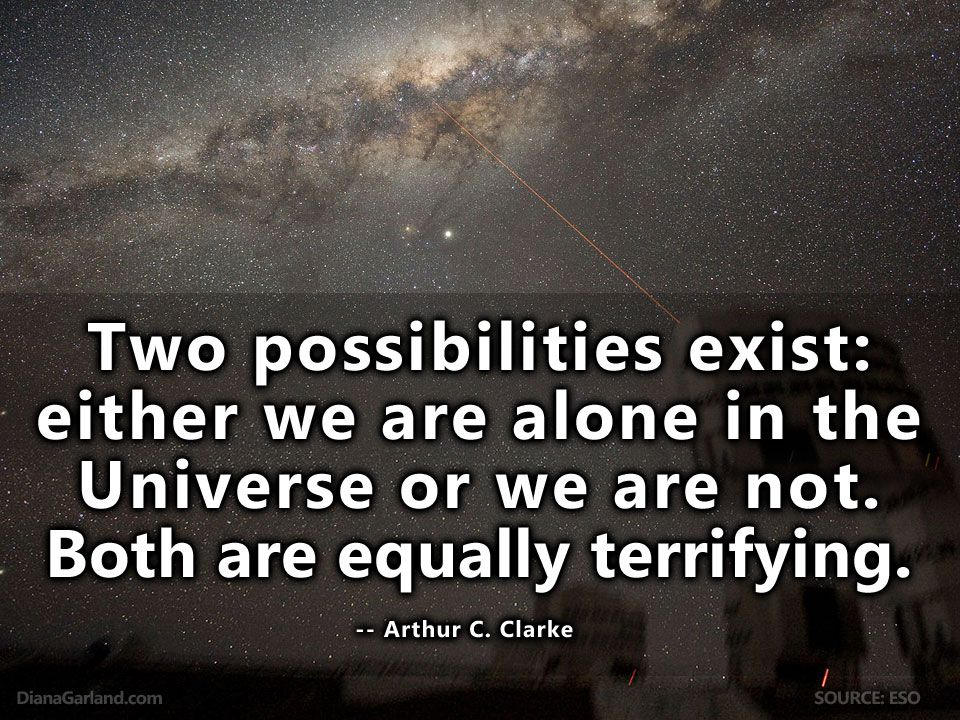 """""""I'm sure the universe is full of intelligent life. It's just been too intelligent to come here."""" - Arthur C. Clarke #ArthurCClarke #AlienLife #Quote"""