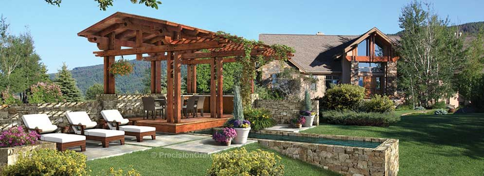 View images of custom pergolas, gazebos, pavilions and other outdoor rooms  and structures. On this page: The Jasmine Terrace Luxury Pergola - Outdoorspacesandrooms.com Covered Parking Construction Examples