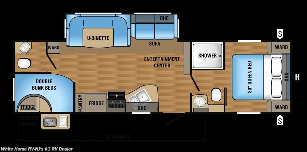 Image Result For Travel Trailer 2 Baths Bunks Floor Plans Travel Trailer Floor Plans Bunks