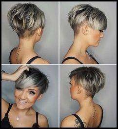 kurzhaarfrisuren 22 damen grau haarfarbe #kurzhaarfrisuren ...