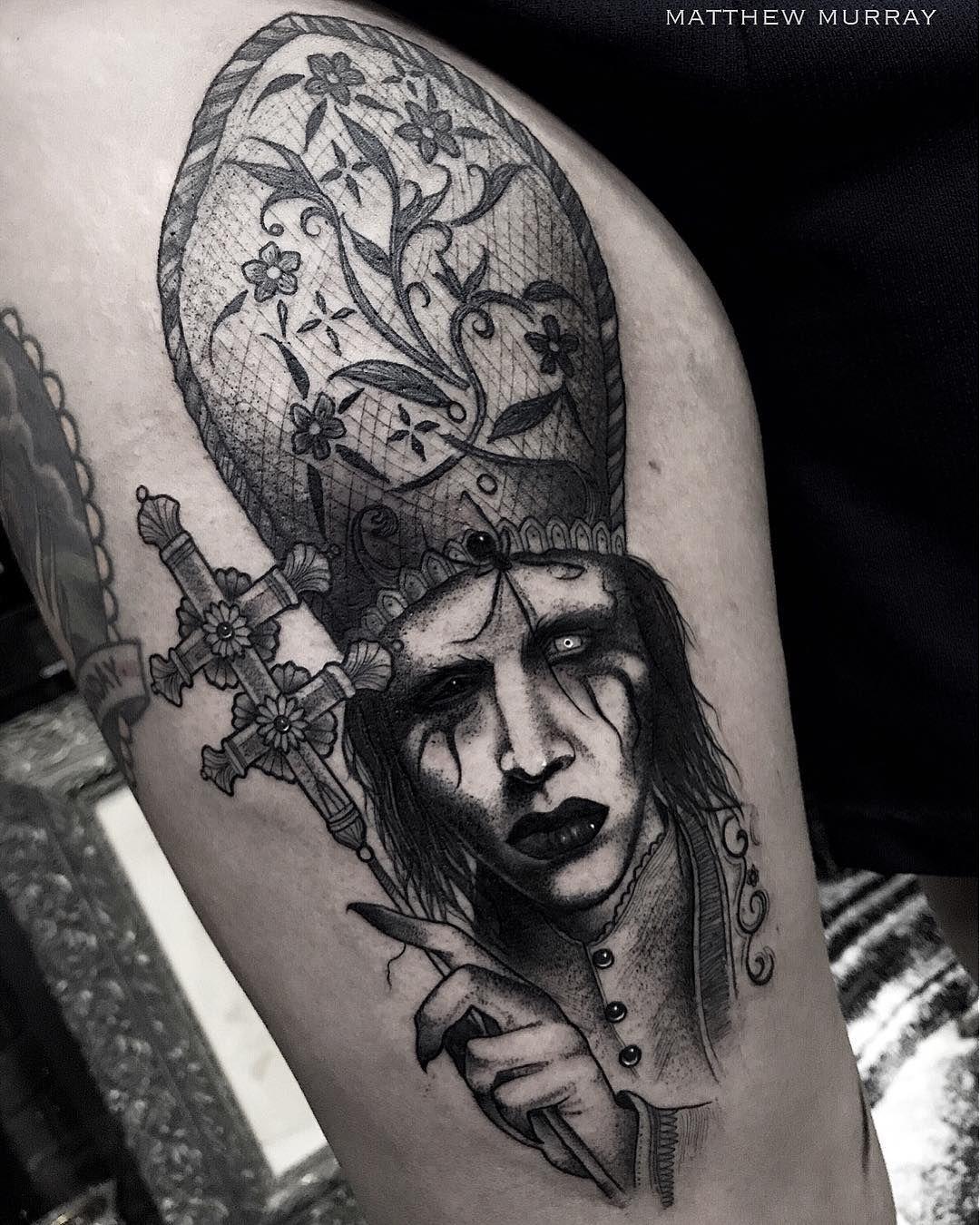 Marilyn Manson Tattos: Amazing Marilyn Manson Tattoo