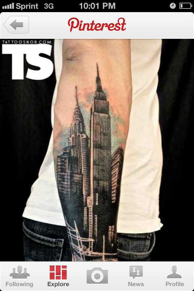80f03ef84a skyscraper tatt   Ideas from babes   Xoil tattoos, Architecture ...