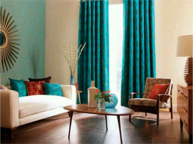 Teal Living Room  Design  Pinterest  Teal Living Rooms Glamorous Teal Living Room Curtains Design Ideas