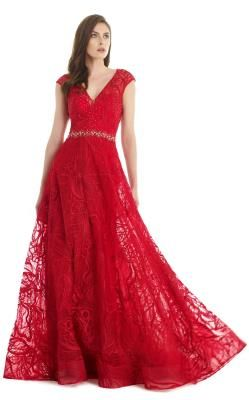 7c6ab9830f Morrell Maxie Red 15353 Long Formal Dress Size 12 (L)