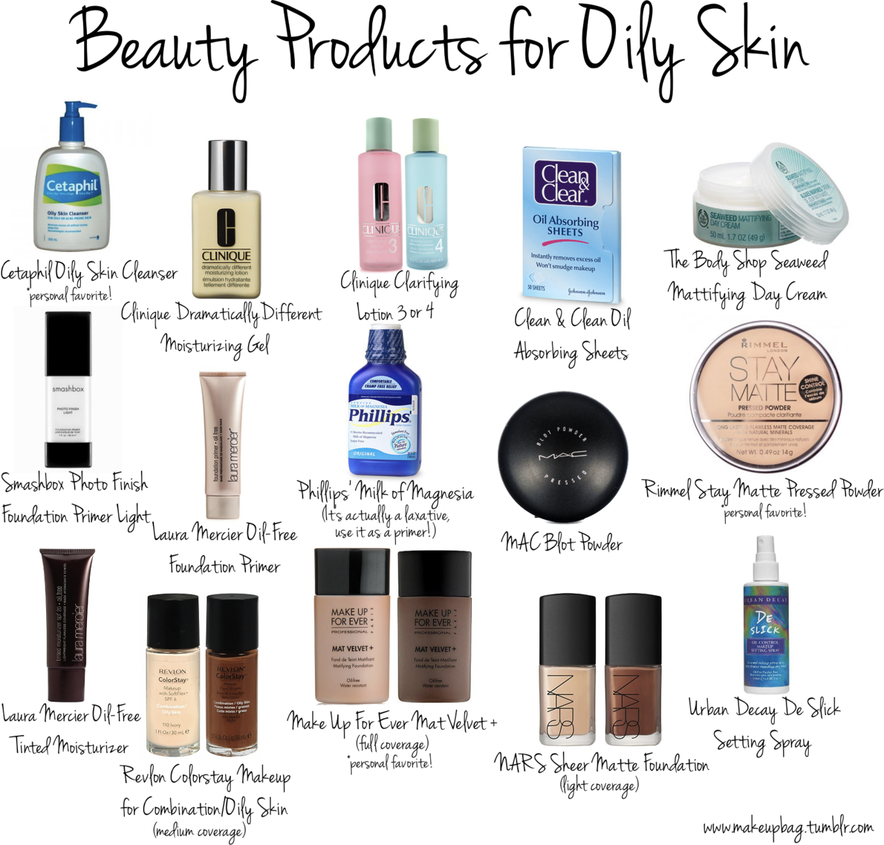 Products for oily skin my skin gets oily within a few