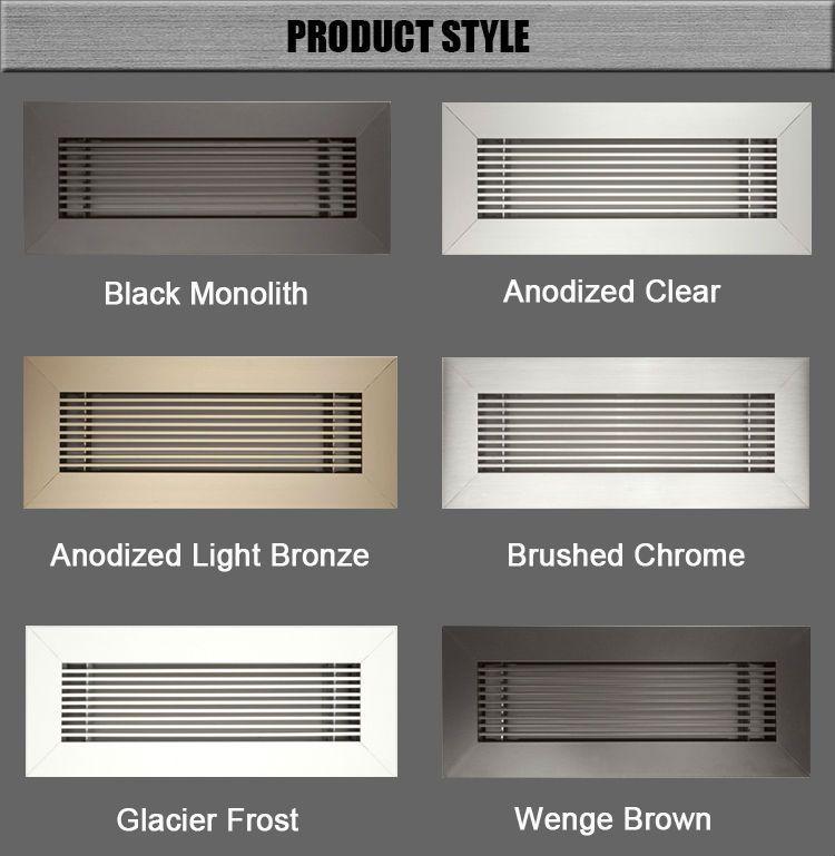 Hvac System Aluminum No Hood Vent Supply Air Register Floor