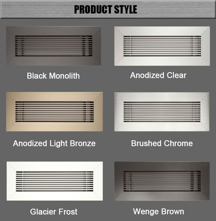 Hvac System Aluminum No Hood Vent Supply Air Register Floor Air