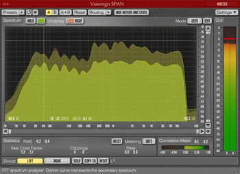 The 64-bit version of the free Voxengo SPAN real-time audio