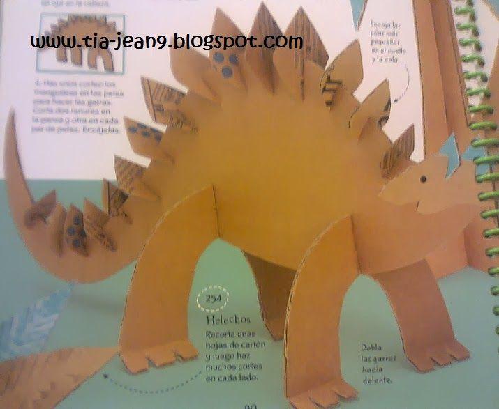 Paso a paso con jeannine dinosaurio hecho de carton for Colowall papel mural santiago