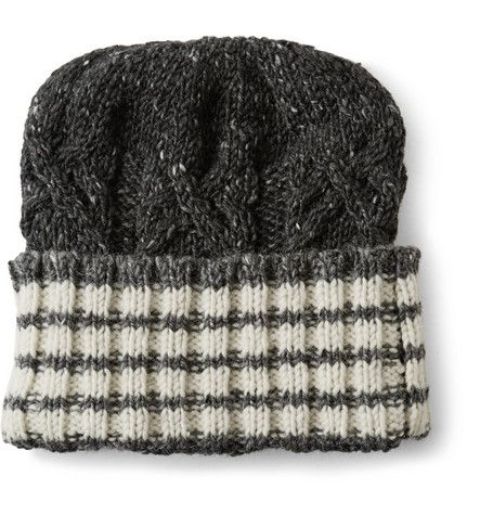 4b13ff506db Thom Browne Striped Donegal Wool and Cashmere-Blend Beanie Hat