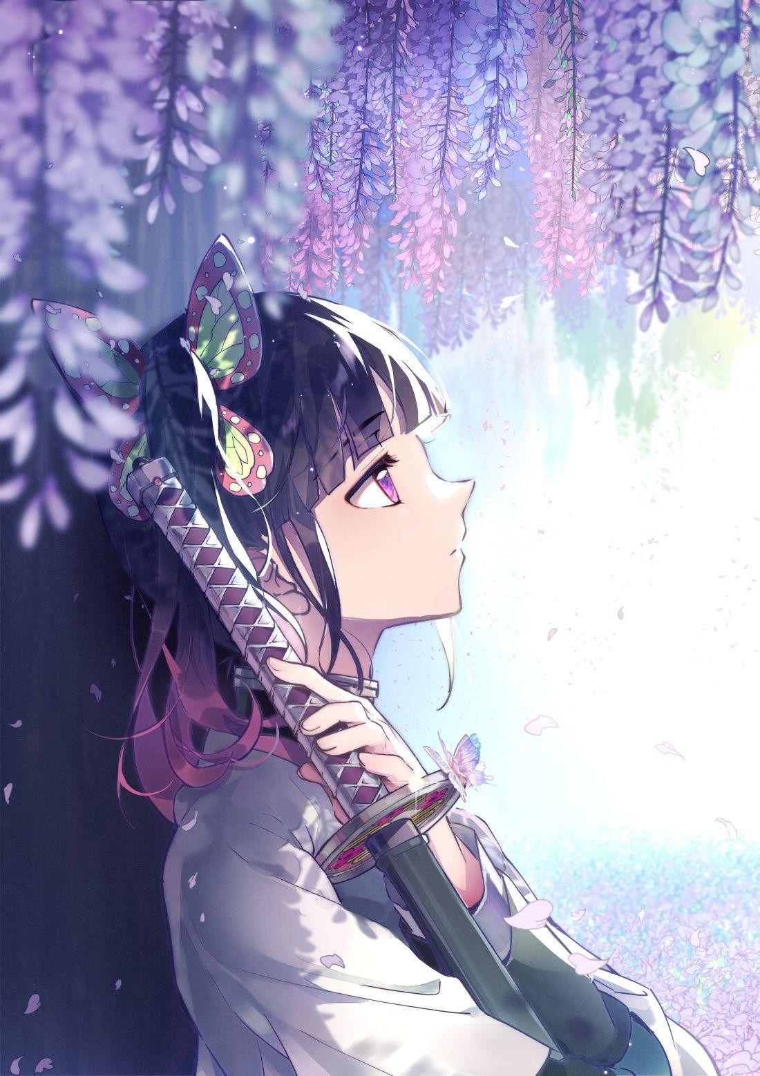 Kanao Tsuyuri Kimetsu No Yaiba Wallpaper Ilustrasi Komik Gambar Karakter Animasi