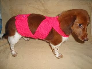 Chiwaluv Amigurumi Critters: TTouch Mock Anxiety Wrap and Dachshund Anxiety Swaddling Sweater