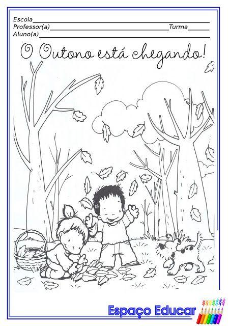 Desenhos De Outono Para Colorir Pintar Imprimir Paginas Para