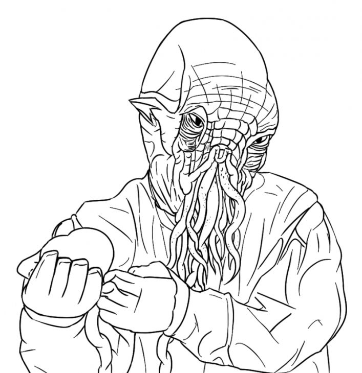 Ood The Alien From Doctor Who Coloring Page