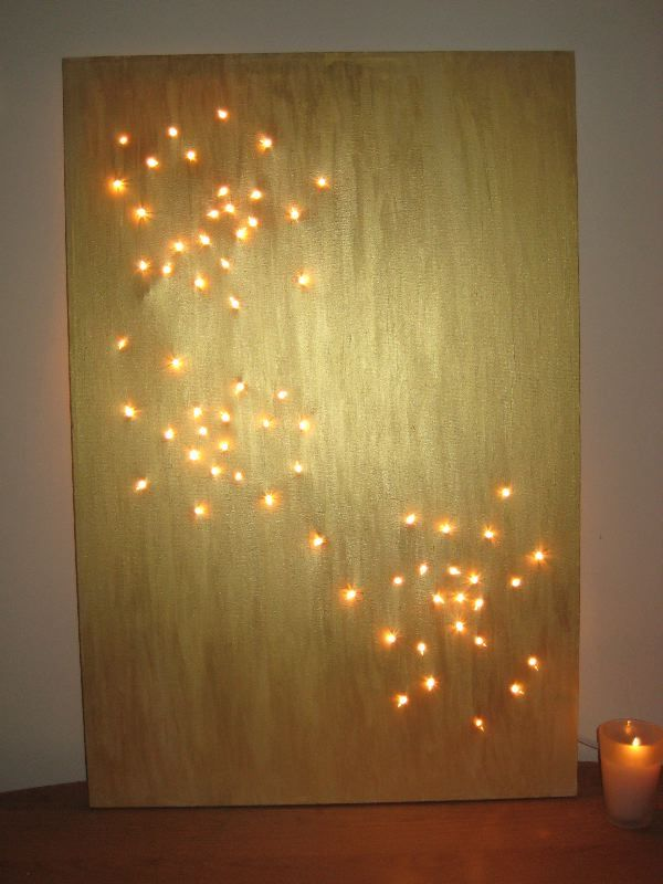 A Diy Light Bright That Rivals A Starry Night Diy Wall Art Wall Art Decor Diy Wall