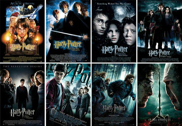 All Harry Potter 2001 2002 2004 2005 2007 2009 2010 And