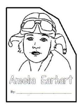 Amelia Earhart Shape Book Shape Books Amelia Earhart