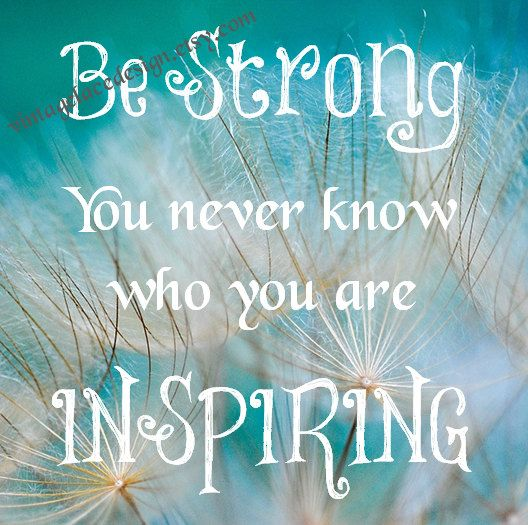 Be Strong You Never Know Who You Are Inspiring Home Decor Wall Art