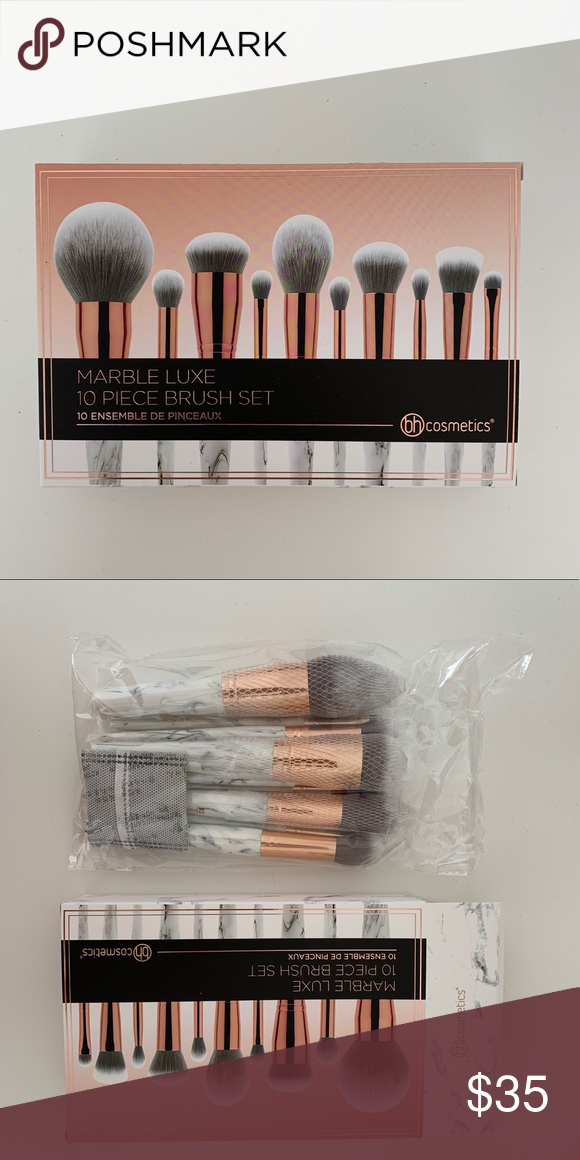 Marble 10 Piece Makeup Brush Set By Bh Cosmetics In 2020 Makeup Brush Set Bh Cosmetics Makeup Brushes