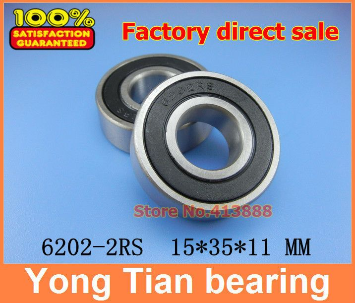 0.32US $  1pcs double Rubber sealing cover deep groove ball bearing 6202 2RS 15*35*11 mm bearing bearing bearing groovebearing ball - AliExpress