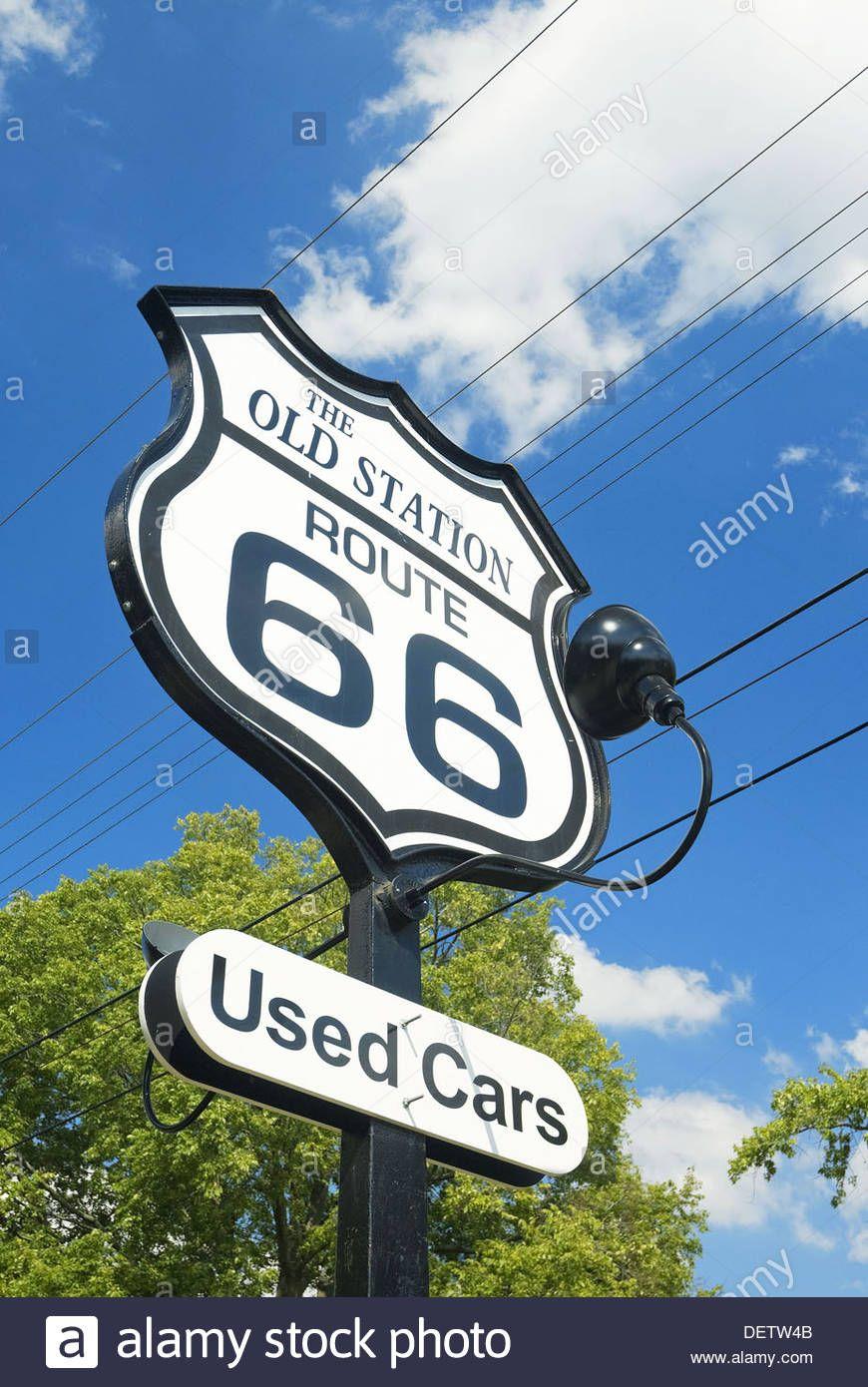 Usa Illinois Route 66 Williamsville Old Gas Station Stock Photo