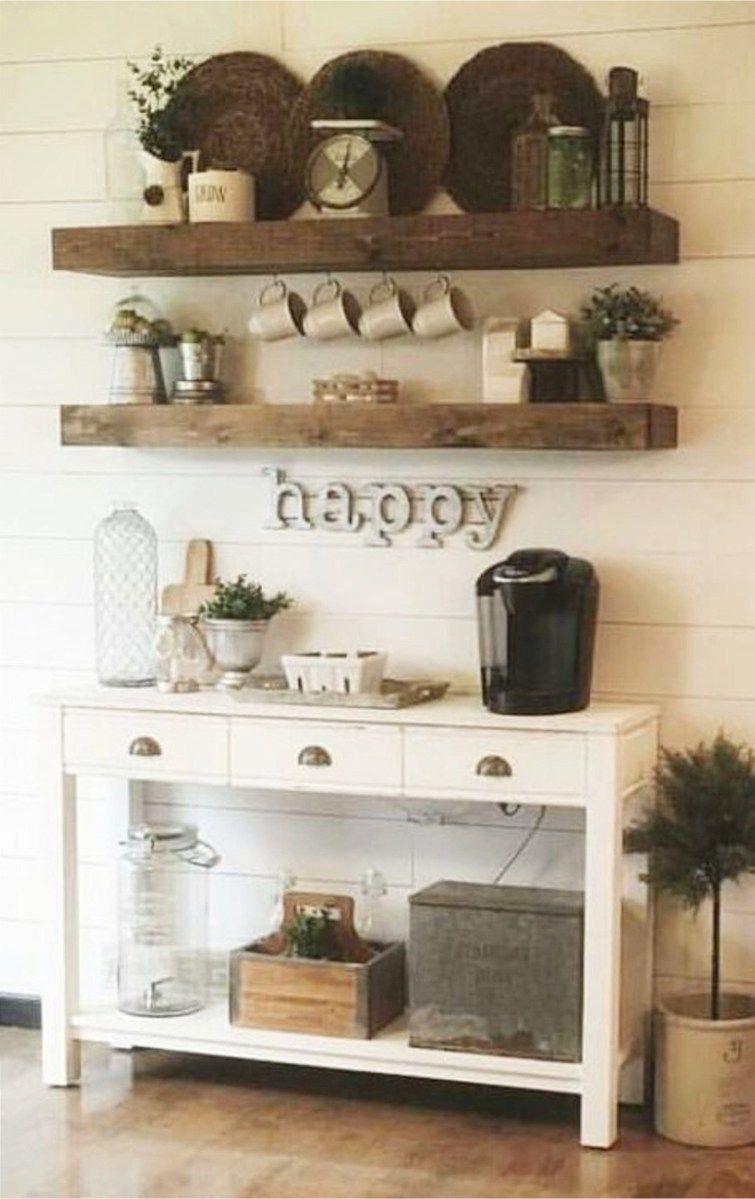 Adorable DIY Coffee Bar Ideas For Your Cozy Home   Coffee area, Bar ...