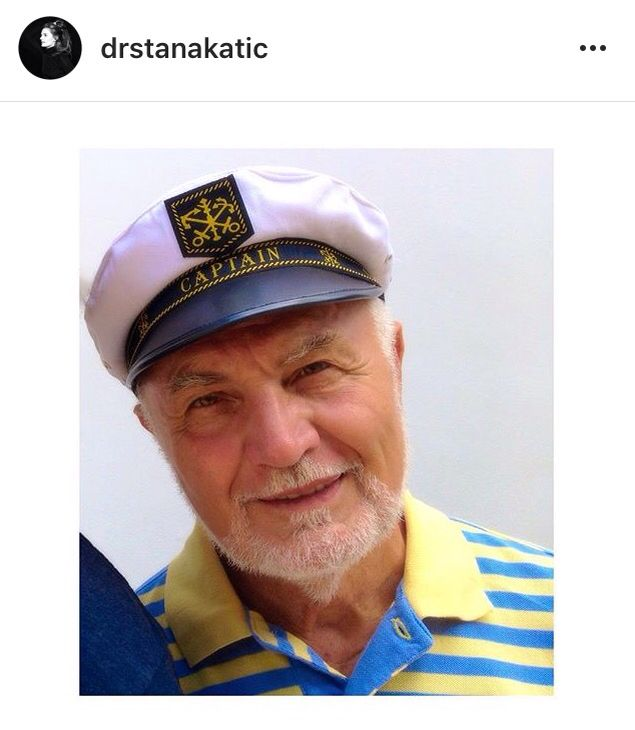 """Stana's Daddy. """"Happy Pappy's Day to my favr'it Pappy & to all the other Pappy's out there. Love you, dad!❤️ #HappyFathersDay⛵️"""""""