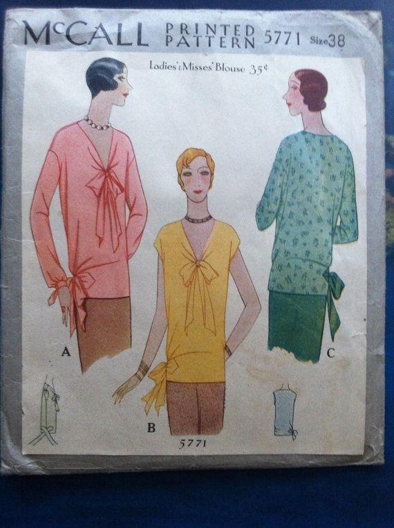 Mccall #5771 c.1929 | 1920s Fashion History | Pinterest