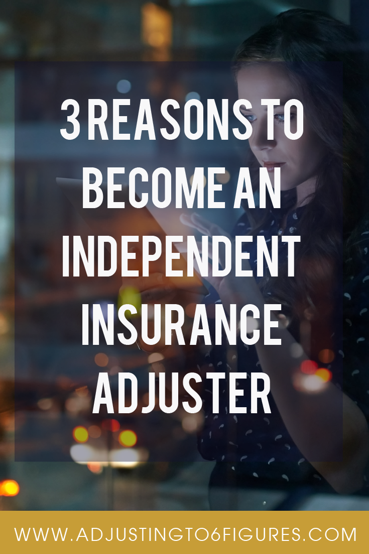 3 Reasons To Become An Independent Insurance Adjuster One Promising Career That Fits These Criteria If You Are A M Independent Insurance Insurance Motivation