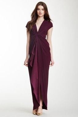 Radiance Twist Front Silk Gown