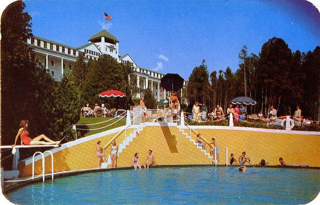 Pool And Grand Hotel Mackinac Island Mi Grand Hotel Mackinac Island Mackinac Island Vintage Pool Parties
