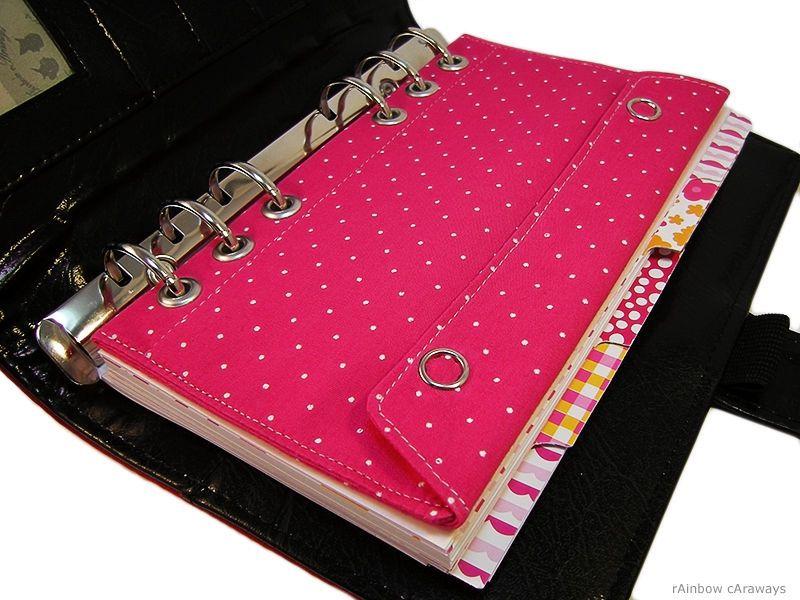 Filofax Kikki K Personal Tasche Kalender Refill Pink Polka Dots